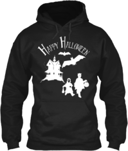 Happy Halloween Haunted House Bat Trick or Treaters Hoodie