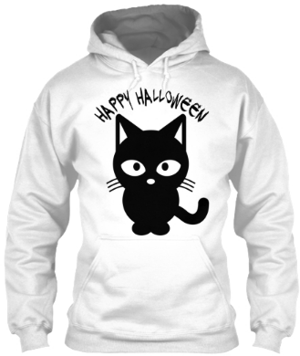 Happy Halloween black Cat Hoodie