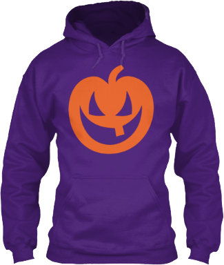 Hoodie Orange Scary Pumpkin