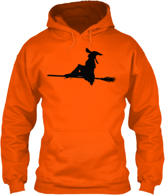 Hoodie Flying Witch on a Broom