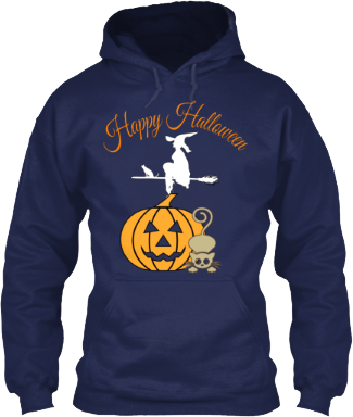 Hoodie Happy Halloween Pumpkin Witch Cat
