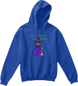 Bubble Bubble Toil I'm Trouble Kid's Halloween Hoodie