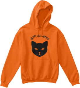 Black Cat Kids Hoodie Halloween