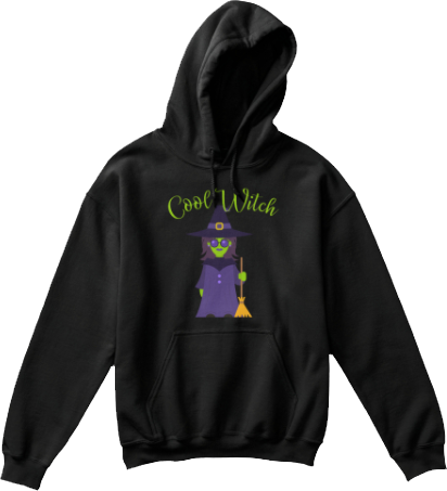 Kid's Cool Witch Hoodie