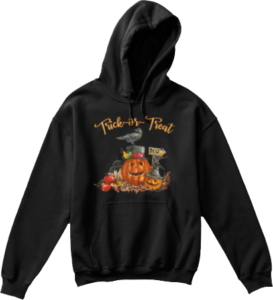 Kid's Trick or Treat Pumpkin Crow Hoodie