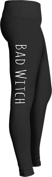 Bad Witch Black Halloween Workout Trick or Treat Costume Leggings