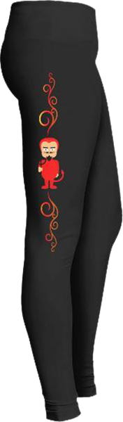 Devil in red Black Halloween Workout Trick or Treat Costume Leggings