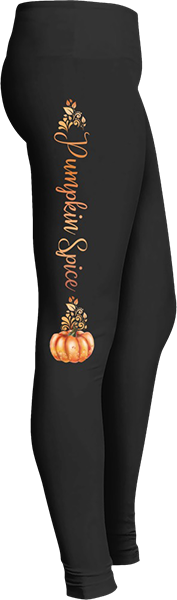 Black Halloween Workout Trick or Treat Costume Pumpkin Spice Leggings