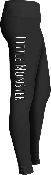 Little Monster Black Halloween Workout Trick or Treat Costume Leggings