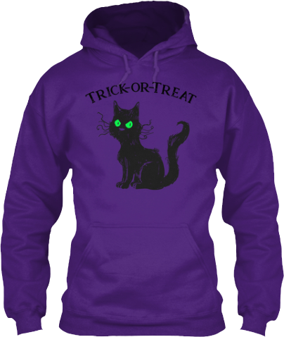 Black Cat Trick or Treat Hoodie