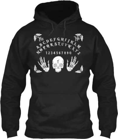 Spirit Board Skull Skeleton Hands Hoodie