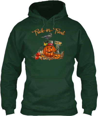 Trick or Treat Pumpkin Crow Hoodie