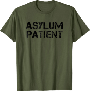 Asylum Patient Halloween T shirt Costume