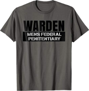 Warden Men's Federal Penitentiary Halloween Costume