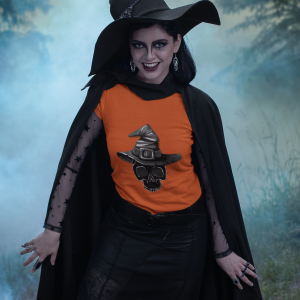 Skeleton Witch T shirt for Halloween