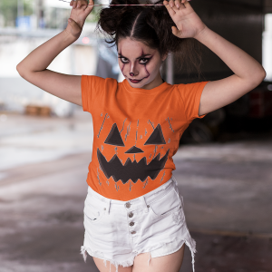 Halloween Pumpkin Face Halloween Costume Shirt