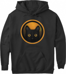 Black Cat Orange Halloween Hoodie