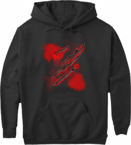Zombie Slasher Blood Halloween Hoodie